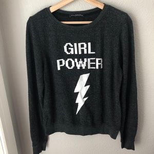 Girl power baggy beach jumper